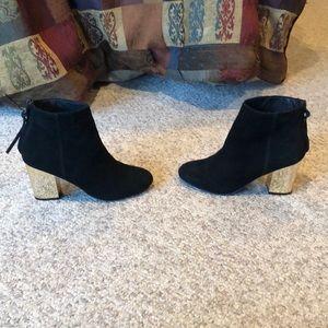 Steve Madden black Cynthiam ankle block heel boots